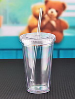 Summer Crushed Ice Straw Plastic Readily Double Juice Cup