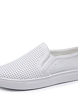 Men's Loafers & Slip-Ons Comfort PU Spring Casual White Black Flat