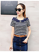 Women's Casual/Daily Simple Active Summer T-shirt Skirt Suits,Solid Round Neck Short Sleeve