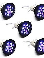 36W E26/E27 LED Grow Lights PAR38 12 High Power LED 1850 lm Red Blue AC85-265 V 5 pcs