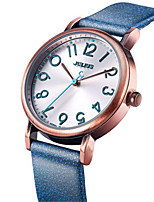 Women's Fashion Watch Quartz Water Resistant / Water Proof Leather Band Casual Black White Blue Brown