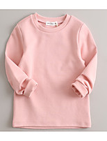 Girls' Solid Tee,Cotton Spring/Fall Winter Long Sleeve Regular