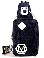 Men Sling Shoulder Bags Canvas All Seasons Outdoor Messenger Zipper Coffee Blue