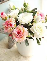 5 предметов 5 Филиал Шелк Розы Букеты на стол Искусственные Цветы
