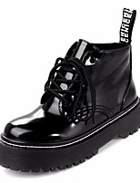 Women's Boots Comfort Real Leather Fall Winter Casual Comfort Black Flat