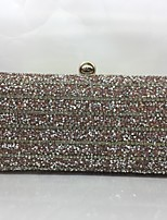Women Evening Bag Metal All Seasons Formal Event/Party Baguette Push Lock Silver Gold