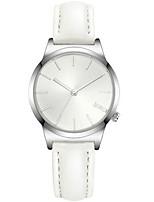 Mulheres Relógio de Moda Quartzo Impermeável PU Banda Branco Azul Rosa