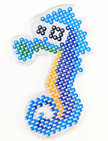 1PCS 5MM Fuse Beads Clear Template Pegboard Stencil Sea Horse Shape Hama Perler Beads Pegboard Kid DIY Handmaking Educational Craft Jigsaw Toy