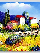 Oil Paintings Landscape Style Canvas Material With Wooden Stretcher Ready To Hang Size70*70CM .