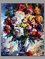 Hand-Painted Floral/Botanical Vertical Panoramic,Modern/Contemporary One Panel Canvas Oil Painting For Home Decoration