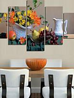 Impression d'Art A fleurs/Botanique Pastoral,Cinq Panneaux Format Horizontal Imprimé Décoration murale For Décoration d'intérieur