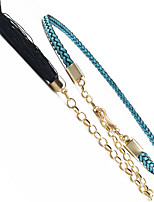 Women's Fashion Tassel Knotted Thin Belt / 6 Colors