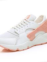 Da donna scarpe da ginnastica Comoda PU (Poliuretano) Primavera Autunno Tempo libero Lacci Piatto Bianco Nero Rosa Piatto