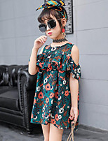 Girl's Floral Dress,Polyester Summer Sleeveless