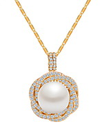 Women's Pendant Necklaces Jewelry Jewelry Pearl Zircon Alloy Unique Design Euramerican Fashion Jewelry ForWedding Party Birthday