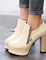 Для женщин Обувь на каблуках Удобная обувь Полиуретан Весна Повседневные Удобная обувь Белый Черный 4,5 - 7 см