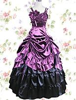 Платья/Платья Готика Косплей Платья Лолиты Черный Лиловый Однотонные Юбки Платье Для Модал