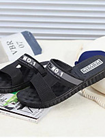 Men's Slippers & Flip-Flops Fall Winter Comfort PU Casual Blue Black