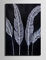 מצויר ביד טבע דומם אנכי,רטרו פנל אחד בד ציור שמן צבוע-Hang For קישוט הבית
