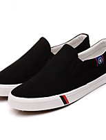 Для мужчин Мокасины и Свитер Удобная обувь Полотно Весна Повседневный Белый Черный Морской синий На плоской подошве