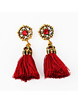 Drop Earrings Rhinestone Unique Design Tag Tassels Fashion Personalized Hypoallergenic Classic Alloy Geometric Line Jewelry ForWedding