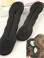 2 pcs Quality Women Magic Foam Sponge Foam Twist Hair Disk Hairs Band Tool Quick Messy Bun Updo Headwear Accessories