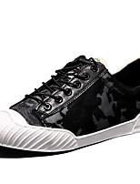Men's Sneakers Comfort Tulle PU Spring Casual Black Blue Burgundy Flat