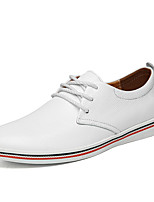Men's Oxfords Comfort Leather Nappa Leather Spring Fall Outdoor Office & Career Casual Flat Heel Light Brown Pool Yellow Black White Flat