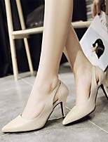 Women's Heels Basic Pump Comfort Real Leather Spring Summer Casual Basic Pump Comfort Beige Black 2in-2 3/4in