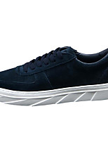 Men's Sneakers Comfort Pigskin PU Spring Casual Black Gray Khaki Flat