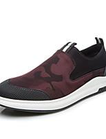 Для мужчин Мокасины и Свитер Удобная обувь Ткань Весна Осень Повседневный Для прогулок На плоской подошве Черный На плоской подошве