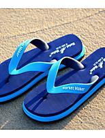 Masculino Chinelos e flip-flops Conforto Pele Nobuck Primavera Casual Conforto Cinzento Azul Marinho Azul Claro Rasteiro