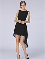 SHE'SWomen's Plus Size Work Sexy Simple A Line DressSolid Round Neck Knee-length Short Sleeve Polyester Summer Mid Rise Inelastic Thin
