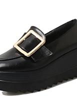 Для женщин Мокасины и Свитер Удобная обувь Полиуретан Весна Осень Повседневные Удобная обувь Микропоры Черный Военно-зеленный 2,5 - 4,5 см