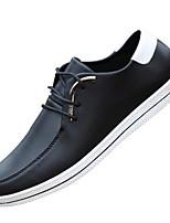 Da uomo Sneakers Comoda Pelle Primavera Casual Nero Blu marino Borgogna Piatto