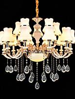 Luci Pendenti Lega di zinco caratteristica for Cristallo Stile Mini Metallo Interno Al Coperto Ingresso 15 lampadine