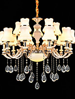 Luzes Pingente Liga de Zinco Característica for Cristal Estilo Mini Metal Interior Corredor 15 lâmpadas