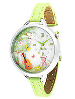 Women's Fashion Watch Quartz PU Band Green