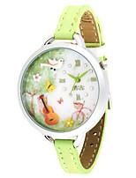 Женские Модные часы Кварцевый PU Группа Зеленый