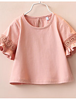 Baby Lace Short-Sleeved t-Shirts Female 2017 Summer  Korean Style  New Children's Wear Girls
