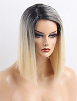 Elegant Personality Ombre Color Straight Human Hair Wigs