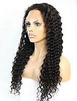 Human Hair Deep Curly Lace front Wig With Illusion Natural Hairline ForBlack women