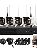 YanSe® Plug and Play Wireless network camera NVR Kits IR Night Vision Security wifi IP Camera DVR System(HDMI/720P/P2P)