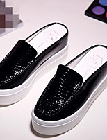 Women's Loafers & Slip-Ons Comfort PU Spring Casual Silver Black White Flat