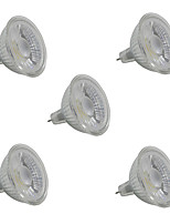 5W Spot LED MR16 1 COB 380-420 lm Blanc Chaud Blanc V 5 pièces