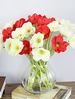 1 Branch  Colorful Poppies  Artificial Flowers