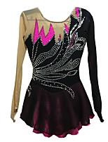 Ice Skating Dress Women's Long Sleeve Skating Skirts & Dresses Dresses High Elasticity Figure Skating Dress Breathable Thermal / Warm