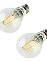 5W Ampoules Globe LED 4 COB 400 lm Blanc Chaud AC 85-265 V