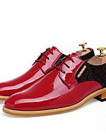 Для мужчин Свадебная обувь Оригинальная обувь Кожа Весна Лето Свадьба Для вечеринки / ужина Оригинальная обувь На плоской подошвеЧерный