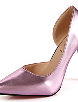 Women's Sandals Comfort PU Summer Outdoor Comfort Stiletto Heel Blushing Pink Green Coffee 5in & over
